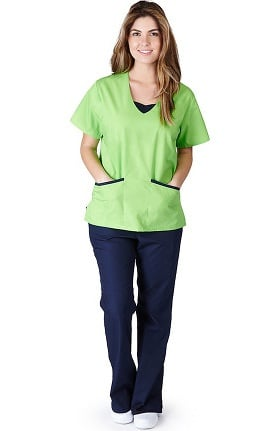 Natural Uniforms Women's Contrast Jersey Scrub Set