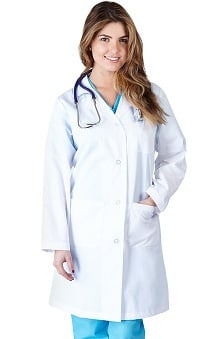 unisex lab coat: Natural Uniforms Unisex 41 Inch Lab Coat