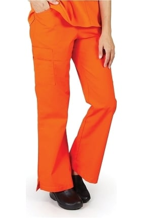 Clearance Natural Uniforms Women's Flare Leg Cargo Scrub Pant