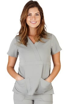 Scrubs new: Ultrasoft Scrubs Women's Mock Wrap Top