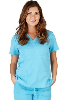 Ultrasoft Scrubs Women's Mock Wrap Top