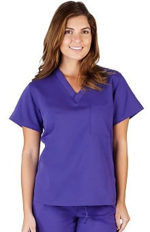 Ultrasoft Scrubs Women's V-Neck Top with Side Panels