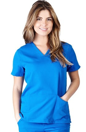 Ultrasoft Scrubs Women's V-Neck Five Pocket Solid Scrub Top