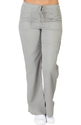 Ultrasoft Scrubs Women's Drawstring And Elastic Waist Cargo Pant