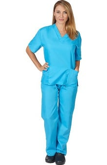 Natural Uniforms Unisex 6 Pocket Scrub Set