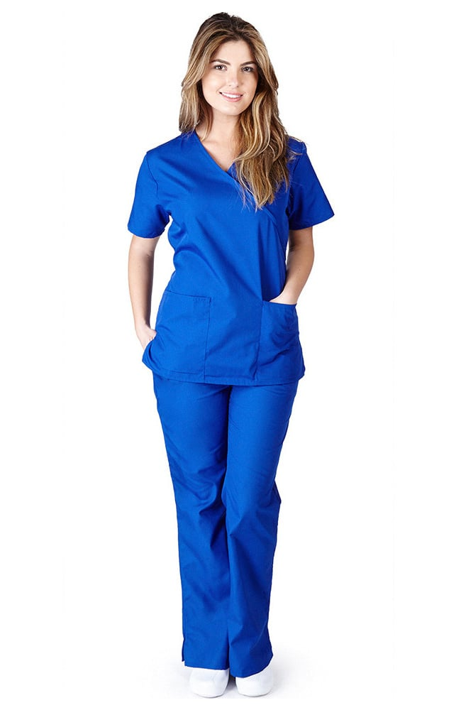 Natural Uniforms Women S Mock Wrap Scrub Set