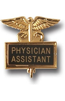 Arthur Farb Physician Assistant Gold Plated Inlaid Emblem Pin