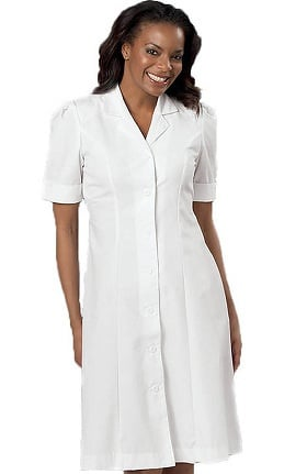 Clearance Peaches Uniforms Women's Short Sleeve A-Line Scrub Dress
