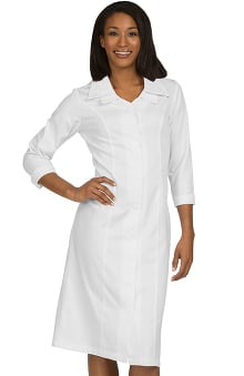 Peaches Uniforms Women's Double Collar Cross Scrub Dress