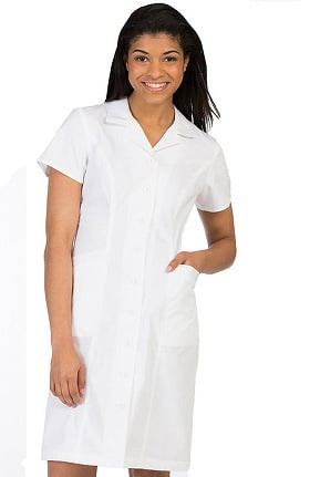 Clearance Peaches Uniforms Women's Button Down Scrub Dress with Princess Seams