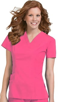 Comfort Collection by Peaches Women's Paige V-Neck Princess Seam Scrub Top