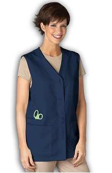 Clearance Peaches Uniforms Women's 29'' 3 Pocket Solid Scrub Vest