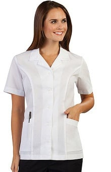 Peaches Uniforms Women's Notched Collar Solid Scrub Top