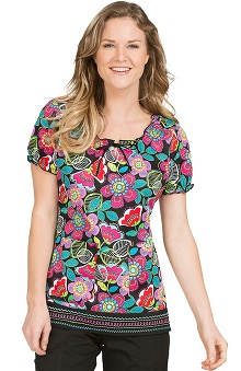 Clearance Peaches Uniforms Women's Suzie Print Scrub Top