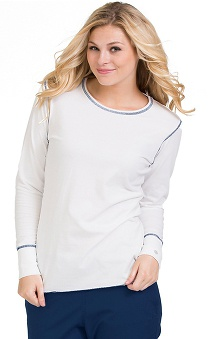 Scrubs new: Life Is Peachy by Peaches Women's Contrast Stitch Long Sleeve T-Shirt