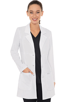 "Vivi by Med Couture Women's Chic Empire Seam 33"" Lab Coat"