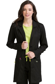 "Clearance Vivi by Med Couture Women's Chic Empire Seam 33"" Lab Coat"