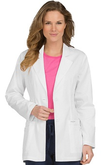 Clearance Peaches Uniforms Women's 2 Button Closure Twill Lab Coat