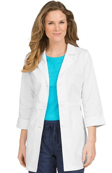 "Clearance Peaches Uniforms Women's ¾"" Sleeve Fitted Lab Coat"
