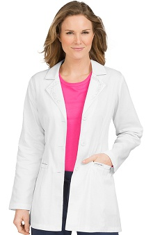 Clearance Peaches Uniforms Women's Lab Coat with Tonal Embroidery