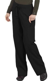 petite: Comfort Collection by Peaches Women's Straight Cut Comfort Scrub Pants