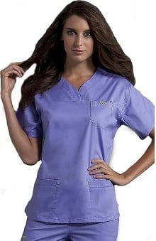 3XT: Med Couture Women's Sport Neckline Solid Scrub Top