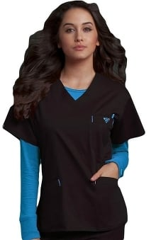 general hospital scrubs: Med Couture Women's Classic Signature V-Neck Solid Scrub Top