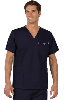 Clearance Med Couture Men's V-Neck Solid Scrub Top