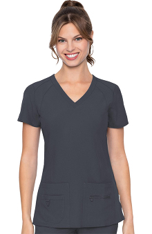 Activate by Med Couture Women's Refined V-Neck Solid Scrub Top