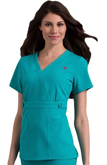 Clearance Med Couture Gold Women's Milan Solid Scrub Top