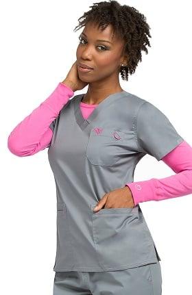 Med Couture Women's EZ Flex Moda Solid Scrub Top