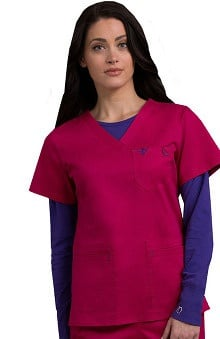 Clearance Med Couture Women's EZ Flex Moda Solid Scrub Top
