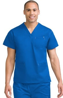 Clearance MC2 for Men by Med Couture V-Neck Scrub Top with Welt Pocket