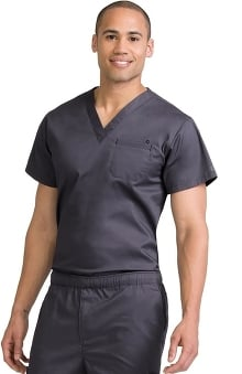 Clearance MC2 for Men by Med Couture Classic V-Neck Tuck In Scrub Top