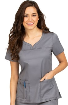 MC2 by Med Couture Women's Lexi Sport Neckline Scrub Top