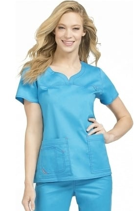 Clearance MC2 by Med Couture Women's Lexi Sport Neckline Scrub Top