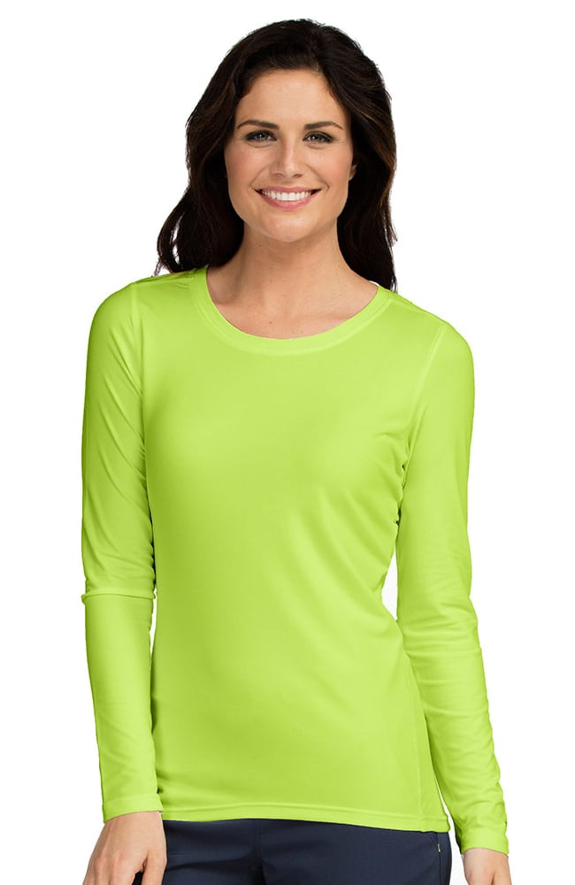 Activate by med couture women 39 s performance long sleeve t for Women s long sleeve t shirts