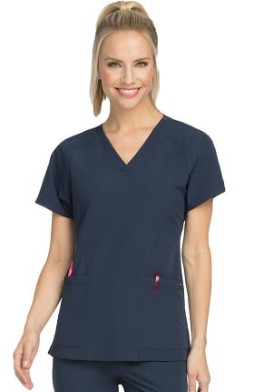 Air by Med Couture Women's Spirit V-Neck Solid Scrub Top