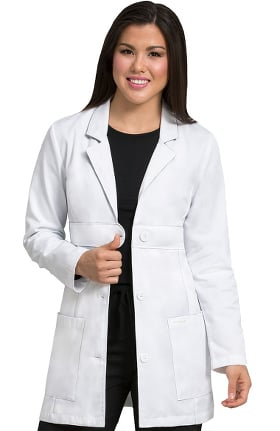 "Clearance Med Couture Women's Belted 33"" Lab Coat"