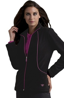 dental : Med Couture Women's Fleece Solid Scrub Jacket