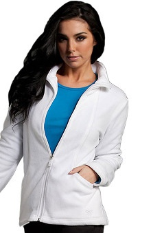 Med Couture Women's Fleece Solid Scrub Jacket