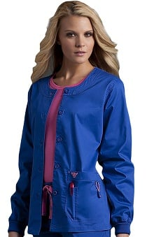 Med Couture Women's Solid Warm-Up Scrub Jacket