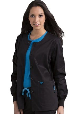 Clearance Med Couture Women's Solid Warm-Up Scrub Jacket