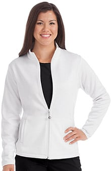Med Couture Women's Med Tech Zip Up Solid Scrub Jacket