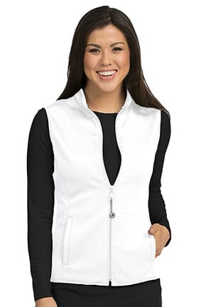 Med Couture Women's Med Tech Zip Up Solid Scrub Vest