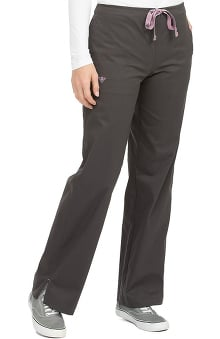 2XL: Med Couture Women's Drawstring Solid Scrub Pant