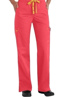 Med Couture Women's Drawstring Solid Scrub Pant