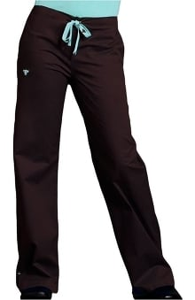 petite: Med Couture Women's Drawstring Solid Scrub Pant