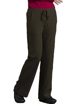 petite: Med Couture Gold Women's Resort Solid Scrub Pant