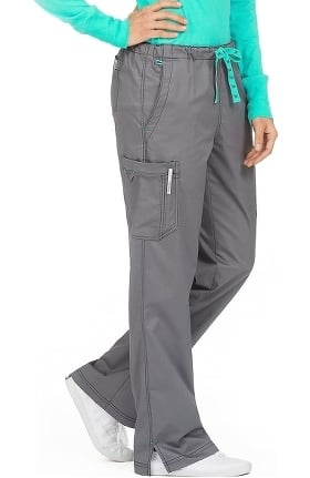 MC2 by Med Couture Women's Layla Drawstring Cargo Scrub Pant